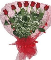 7 adet kipkirmizi gülden görsel buket  Adana çiçek siparişi çiçek mağazası , çiçekçi adresleri