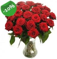 Vazo içerisinde 25 adet kırmızı gül  Adana çiçek siparişi cicek , cicekci