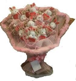 12 adet tavşan buketi  Adana çiçek siparişi çiçek mağazası , çiçekçi adresleri