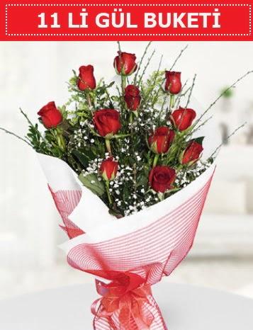 11 adet kırmızı gül buketi Aşk budur  Adana çiçek yolla çiçek gönderme sitemiz güvenlidir