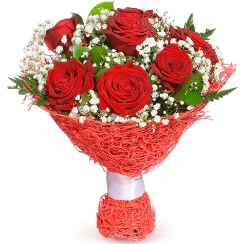 7 adet kırmızı gül buketi  Adana çiçek siparişi çiçekçiler