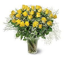 Adana çiçek gönder çiçek siparişi sitesi  15 adet sarigül mika yada cam vazoda