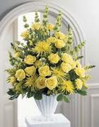 Adana çiçek gönder çiçek siparişi sitesi  sari güllerden sebboy tanzim çiçek siparisi