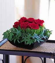 Adana çiçek gönder çiçek siparişi sitesi  10 adet kare mika yada cam vazoda gül tanzim