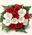 Adana çiçek gönder çiçek , çiçekçi , çiçekçilik  10 adet kirmizi beyaz güller - anneler günü için ideal seçimdir -