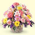 Adana çiçek siparişi uluslararası çiçek gönderme  sepet içerisinde gül ve mevsim