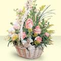 Adana çiçek siparişi 14 şubat sevgililer günü çiçek  sepette pembe güller