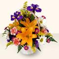 Adana çiçek siparişi 14 şubat sevgililer günü çiçek  sepet içinde karisik çiçekler