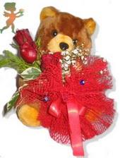 oyuncak ayi ve gül tanzim  Adana çiçek siparişi çiçekçiler