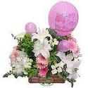 balon ve çiçeklerle tanzim  Adana çiçek gönder internetten çiçek satışı
