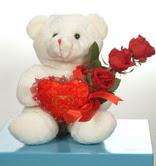 3 adetgül ve oyuncak   Adana çiçek siparişi online çiçekçi , çiçek siparişi