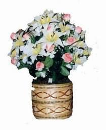yapay karisik çiçek sepeti   Adana çiçek siparişi çiçek servisi , çiçekçi adresleri