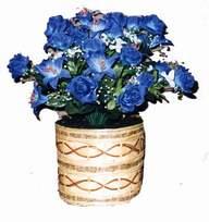 yapay mavi çiçek sepeti  Adana çiçek siparişi cicekciler , cicek siparisi