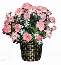 yapay karisik çiçek sepeti  Adana çiçek siparişi çiçek online çiçek siparişi