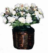 yapay karisik çiçek sepeti   Adana çiçek siparişi cicek , cicekci