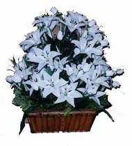 yapay karisik çiçek sepeti   Adana çiçek siparişi online çiçek gönderme sipariş