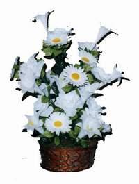 yapay karisik çiçek sepeti  Adana çiçek siparişi çiçek siparişi vermek