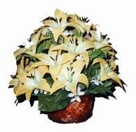 yapay karisik çiçek sepeti   Adana çiçek gönder çiçek siparişi sitesi
