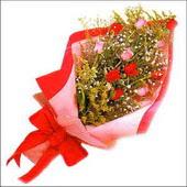 12 adet renkli  gül buketi   Adana çiçek gönder çiçekçi mağazası