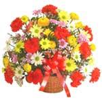 karisik renkli çiçek sepet   Adana çiçek yolla çiçek gönderme sitemiz güvenlidir
