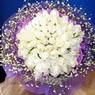 71 adet beyaz gül buketi   Adana çiçek gönder çiçek , çiçekçi , çiçekçilik