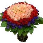 71 adet renkli gül buketi   Adana çiçek gönder ucuz çiçek gönder