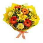 Adana çiçek gönder çiçek , çiçekçi , çiçekçilik  orta boy  buket demetlik - karisik buket anneler günü  için -
