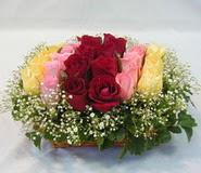 15 adet reprenkli gül sepeti   Adana çiçek yolla çiçek yolla