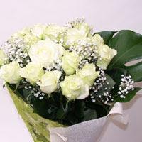 Adana çiçek gönder hediye çiçek yolla  11 adet sade beyaz gül buketi
