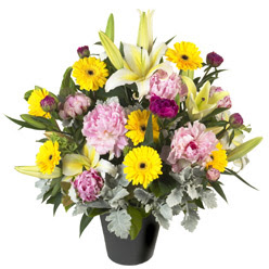 karisik mevsim çiçeklerinden vazo tanzimi  Adana çiçek siparişi uluslararası çiçek gönderme