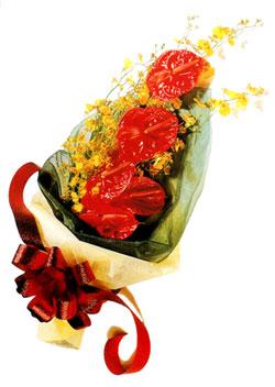 özel 5 adet antorium buketi   Adana çiçek yolla çiçek gönderme sitemiz güvenlidir