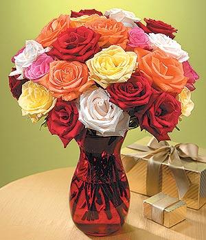 Adana çiçek siparişi anneler günü çiçek yolla  13 adet renkli gül