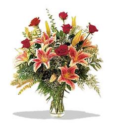 Adana çiçek siparişi çiçek servisi , çiçekçi adresleri  Pembe Lilyum ve Gül