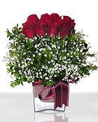 Adana çiçek gönder çiçek , çiçekçi , çiçekçilik  11 adet gül mika yada cam - anneler günü seçimi -