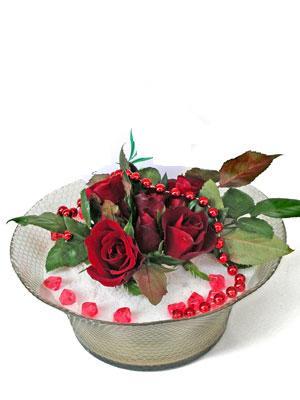Adana çiçek siparişi çiçek siparişi vermek  EN ÇOK Sevenlere 7 adet kirmizi gül mika yada cam tanzim