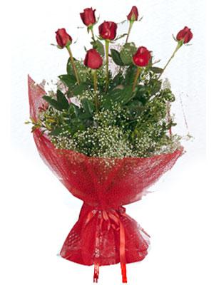 Adana çiçek siparişi çiçek servisi , çiçekçi adresleri  7 adet gülden buket görsel sik sadelik