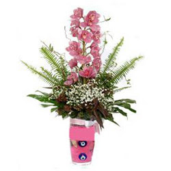 Adana çiçek gönder hediye çiçek yolla  cam yada mika vazo içerisinde tek dal orkide çiçegi