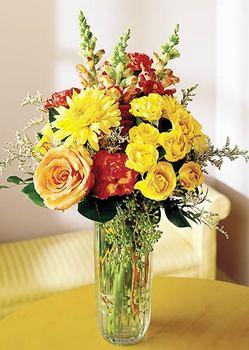 Adana çiçek siparişi 14 şubat sevgililer günü çiçek  mika yada cam içerisinde karisik mevsim çiçekleri