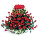 Adana çiçek siparişi kaliteli taze ve ucuz çiçekler  41 adet kirmizi gülden sepet tanzimi