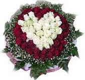 Adana çiçek siparişi çiçek mağazası , çiçekçi adresleri  27 adet kirmizi ve beyaz gül sepet içinde