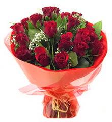 Adana çiçek siparişi anneler günü çiçek yolla  11 adet kimizi gülün ihtisami buket modeli