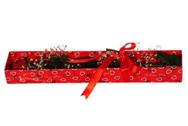 Adana çiçek yolla çiçekçi telefonları  kutu içerisinde 1 adet kirmizi gül