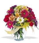 Adana çiçek gönder çiçek , çiçekçi , çiçekçilik  cam yada mika vazo içerisinde karisik kir çiçekleri