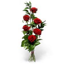 Adana çiçek siparişi uluslararası çiçek gönderme  mika yada cam vazoda 6 adet essiz gül