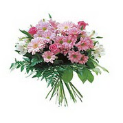 karisik kir çiçek demeti  Adana çiçek yolla çiçek satışı