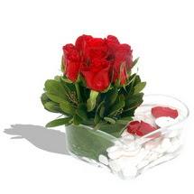 Mika kalp içerisinde 9 adet kirmizi gül  Adana çiçek siparişi çiçek servisi , çiçekçi adresleri