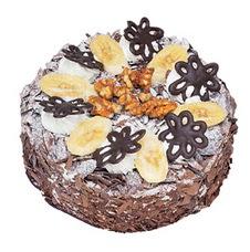 Muzlu çikolatali yas pasta 4 ile 6 kisilik   Adana çiçek siparişi uluslararası çiçek gönderme