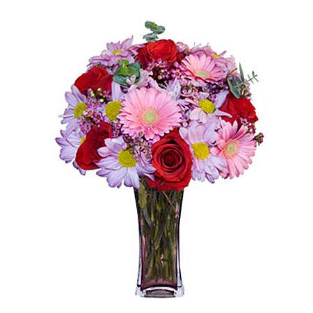 Görsel hediye karisik cam mevsim demeti  Adana çiçek gönder çiçekçi mağazası