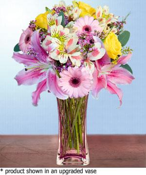 Anneme hediye karisik cam mevsim demeti  Adana çiçek siparişi internetten çiçek siparişi