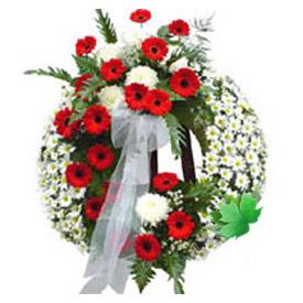 Cenaze çelengi cenaze çiçek modeli  Adana çiçek siparişi uluslararası çiçek gönderme